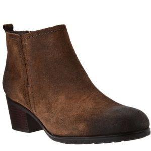 New Rockport Brown Suede Block Heel Ankle Boot 8.5